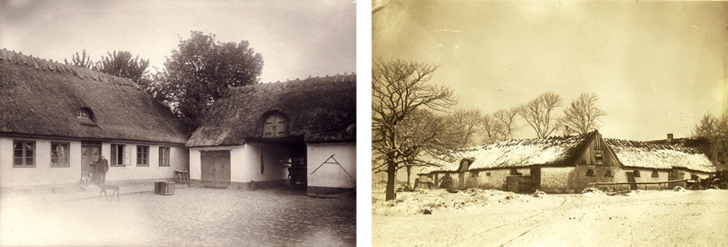 Two of the local farms,  around 1900